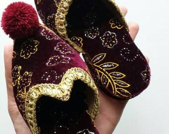 Vintage Oriental Sandals / Oriental Shoes  / Turkish Shoes / Byzantine Shoes / Ottoman Shoes / Turkish Home Decor