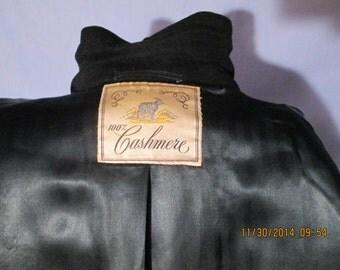 Mens Vintage 1960s CASHMERE Overcoat Coat  44 L  by, DORVELLE for Dayton's