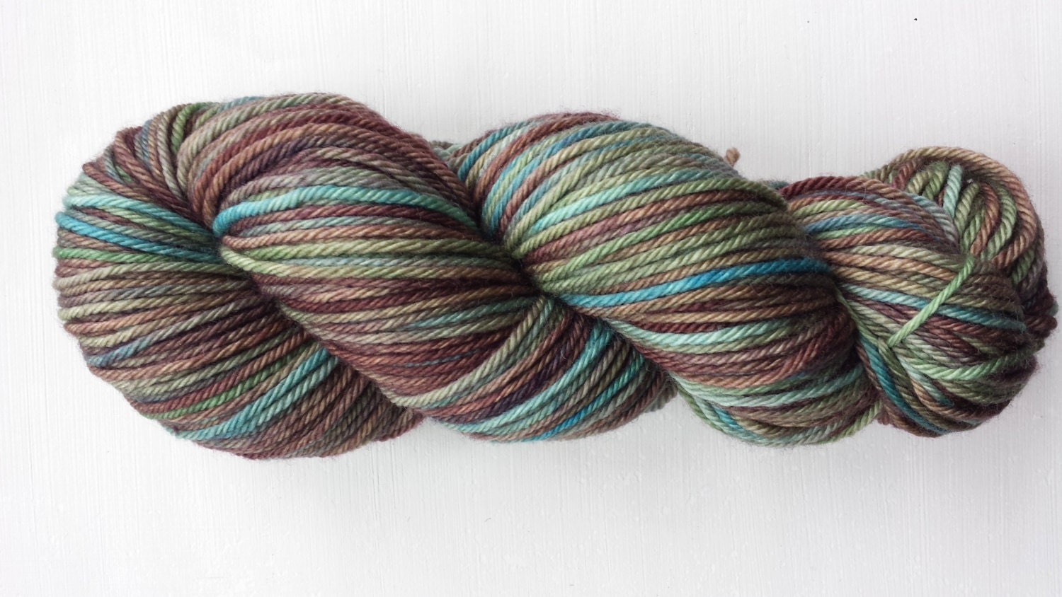 Hand dyed yarn Variegated yarn Earth colors by boraknits
