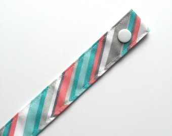 Chevron Fabric Pacifier Clip