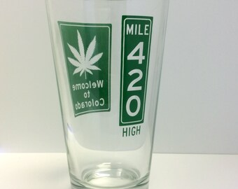 Colorado 420 Mile High Pint Glass