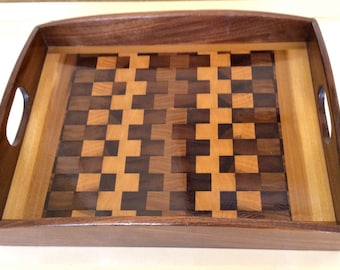 WOOD TRAY   By Jack Cousin, Fine Art Woodworker and Double Bassist, Los Angeles Philharmonic