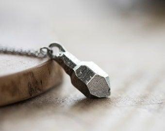 Scepter Quartz Pewter Necklace - D'lera Collection