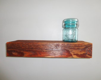 "Barn wood Shelf - Barnwood Shelves - Floating Shelf - Primitive Shelf - 18"" x 6"" x 3"" OVER 100 YR OLD"