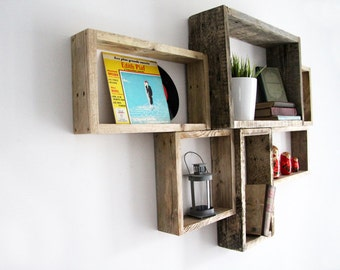 etag re murale selvie en bois de palette brut recycl. Black Bedroom Furniture Sets. Home Design Ideas