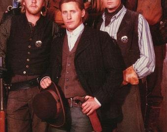 Young Guns Kiefer Sutherland Emilio Estevez Charlie Sheen 1988 Rare Poster