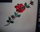 Plasma Cut custom painted ROSE in a vine Metal Wall Art Home Decor