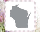 Wisconsin USA State Craft DIY Reusable Stencil