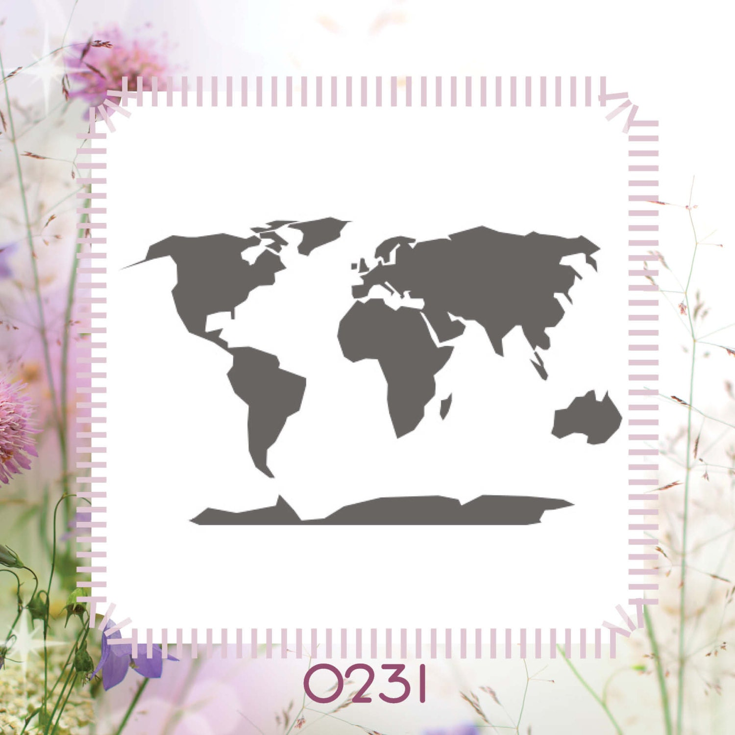 World Map Country Craft DIY Reusable Stencil
