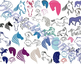 HORSE Design for Embroidery machine  / cheval motifs pour broderie machine / INSTANT DOWNLOAD