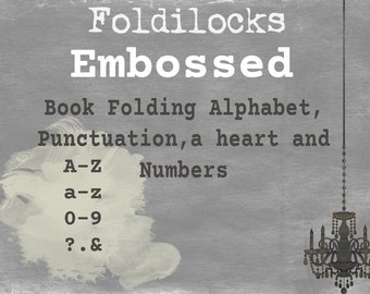 Embossed Alphabet Pattern- words, names or dates.PDF Book Folding Folded Book Art Origami free instructions/ Tutorial