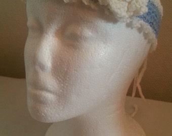 Baby blue children's headband crotchet