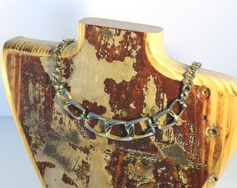 Reclaimed Wood Mannequin Necklace Jewelry Holder (Limited Edition Antique look)
