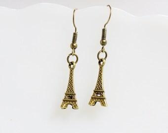 Eiffel Tower Earrings, Eiffel Tower Jewelry, Eiffel Tower Earrings,  Antique Earrings,  Handmade Jewelry