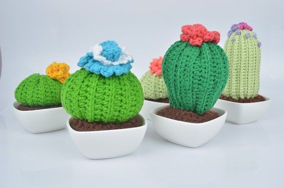Amigurumi Cactus Kitchen decor Unique Home decor Gift Crocheting Hand ...