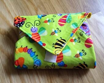 Sandwich Wrap, Reusable, Sandwich Wrap, Fabric Lunch Wrap, Eco Friendly Sandwich Wrap, Placemat, Bugs and Bees, Reuse, Lunch Box, Food Wrap