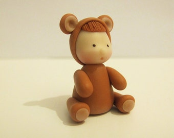 Hudson, the bear (Handmade with air dry clay)