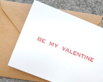 Letterpress Valentine's Day Card