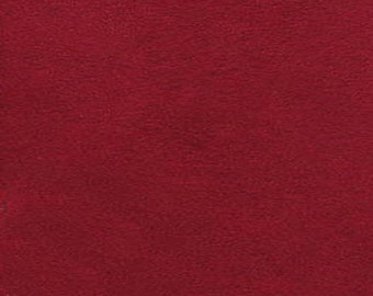 """Red Polyester micro faux suede upholstery fabric by the yard 60"""" Wide"""