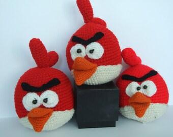 Crochet Angry Bird Amigurumi Toy