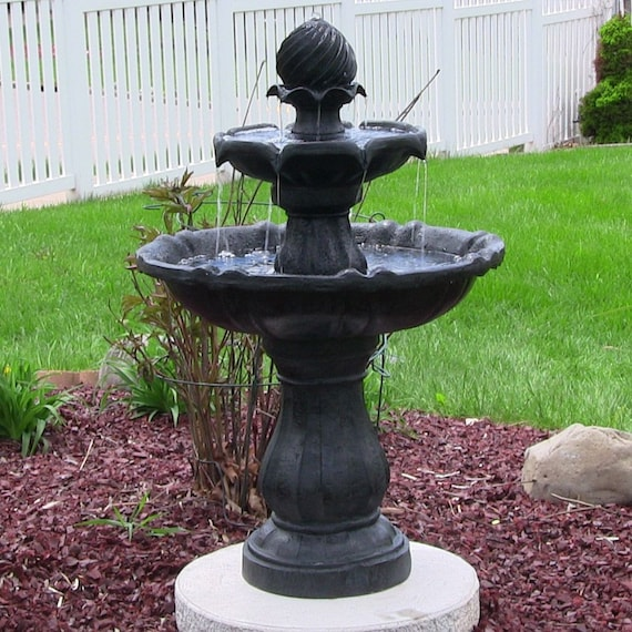 Outdoor 2 Tier Solar Water Fountain For Your Garden Or By