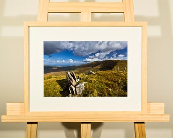 Connor Pass Dingle - Co. Kerry - Ireland - framed print,  print-size 12 x 8 inch, frame size 16 x 12 inch