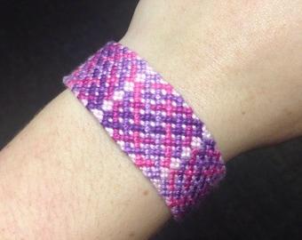Friendship Bracelet: Purple to Pink