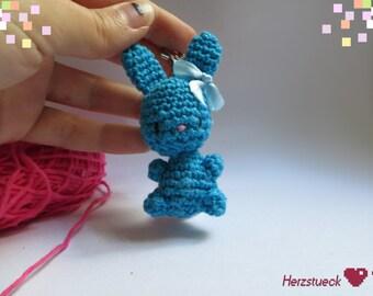 Bunny amigurumi charm