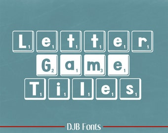 DJB Letter Game Tiles Font (Single User Commercial License)