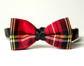 Red Tartan Men's Bow Tie