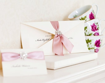 Jocasta Boxed Wedding Invitations, Wedding Invites, Luxury Invitations, Wedding Stationery