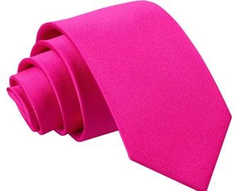 Satin Hot Pink Boy's Tie