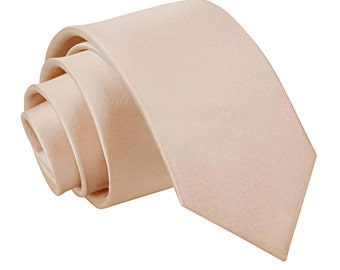 Satin Mocha Brown Boy's Tie