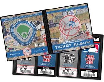 Personalized New York Yankees Ticket Album
