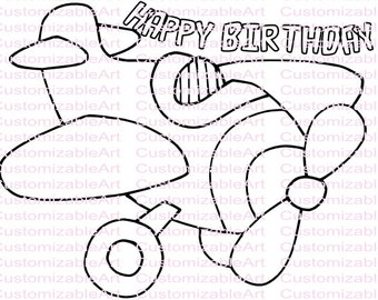 Plane Birthday Party Air Printables Coloring Page Airplane Sheet