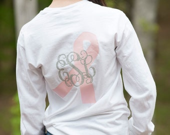 Breast Cancer Awareness Monogrammed Shirt