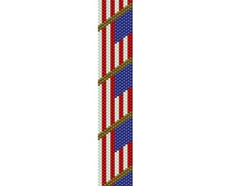 American Flag Peyote Pattern