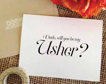 Will you be my usher card (Sophisticated)