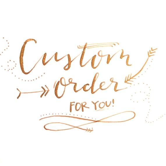 Custom modern calligraphy print sizes vary words