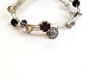 Believe (Black) Wired Bracelet