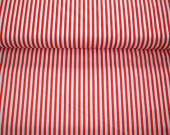 Wamsutta, Festival Prints, red and white stripe,Raggedy Anne leg fabric, Christmas cane, vintage,by yard