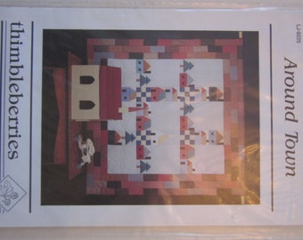 Around Town quilt pattern,Thimbleberries,vintage,wall hanging