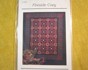 "thimbleberries, Fireside Cozy lap quilt pattern, 10"" square, 66""x80"" finished size"
