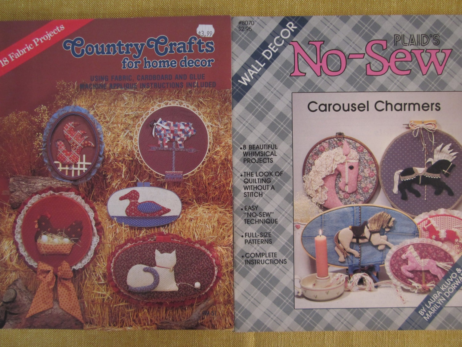 2 Booklets Country Crafts For Home Decor 18 Fabric Applique