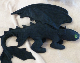 Toothless Beanie Baby Plush with Folded Wings