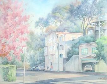 The Italian corner in Sausalito.California.