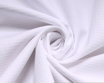 Fabric polyester cotton piqué white shirt blended fabric