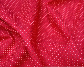 Fabric pure cotton very small dots red white Petticoat