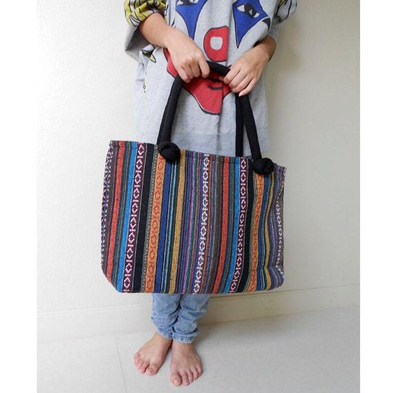 Boho Hippie 100 % Thai woven cotton Everyday Sling Bag (EB 12)