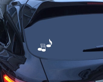 Car Sticker Decal - Music Items - Music Notes, Guitar Dude, Acoustic Guitar, Treble Clef, Music Staff